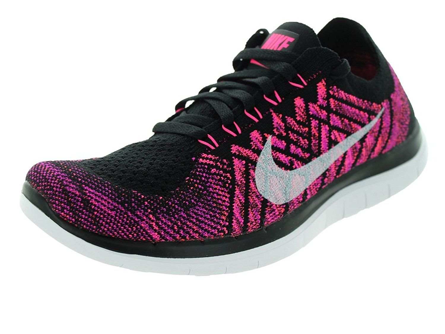 uk availability e30f4 17b5a Nike Free 4.0 Flyknit Women s Running Shoes Black and White -- Check out  this great image   Running shoes