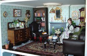 Carolyn's Little Kitchen: First Dollshouse - Living Room