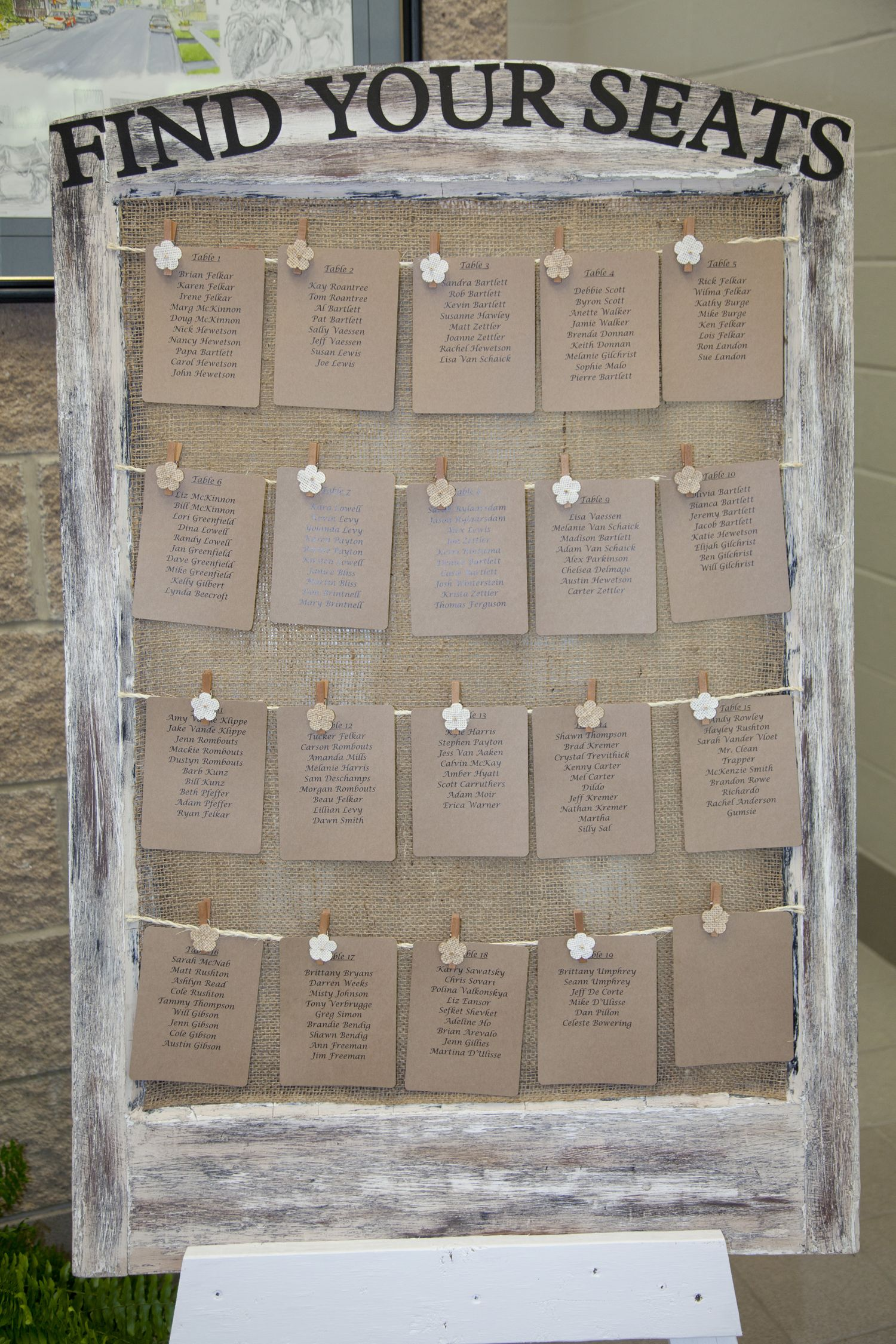 So Happy With How Our Seating Chart Turned Out Used An Old Window Burlap Cardstock Sisal And Mini Clothespins My Wedding Wedding Planning Wedding 2017