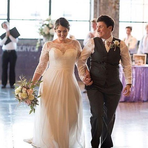 White Ivory Plus Size Wedding Dress Lace Chiffon Bridal Gown Custom Size 16 18 Wedding Dresses Lace Wedding Dresses Plus Size Beautiful Wedding Dresses