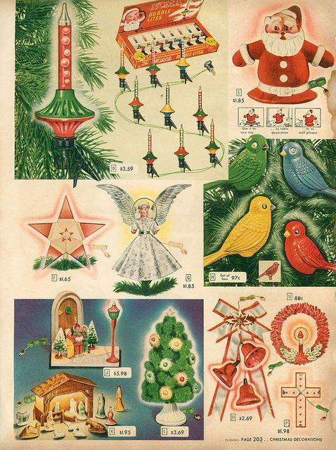 1948-xx-xx Sears Christmas Catalog P203 Vintage christmas lights