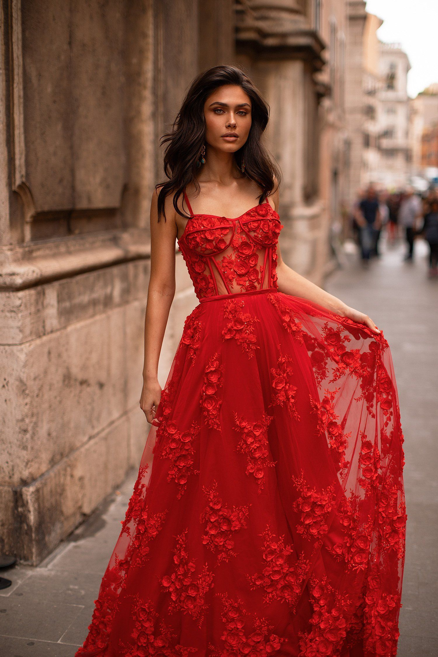 Clarina red in 2020 with images nice dresses dress
