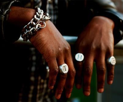 mens jewelry - initial rings