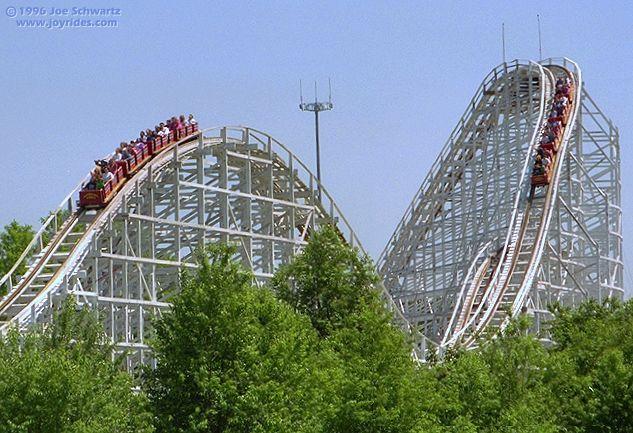 Wild One Six Flags America Baltimore Washington D C Thrill Ride Six Flags America Amusement Park Rides