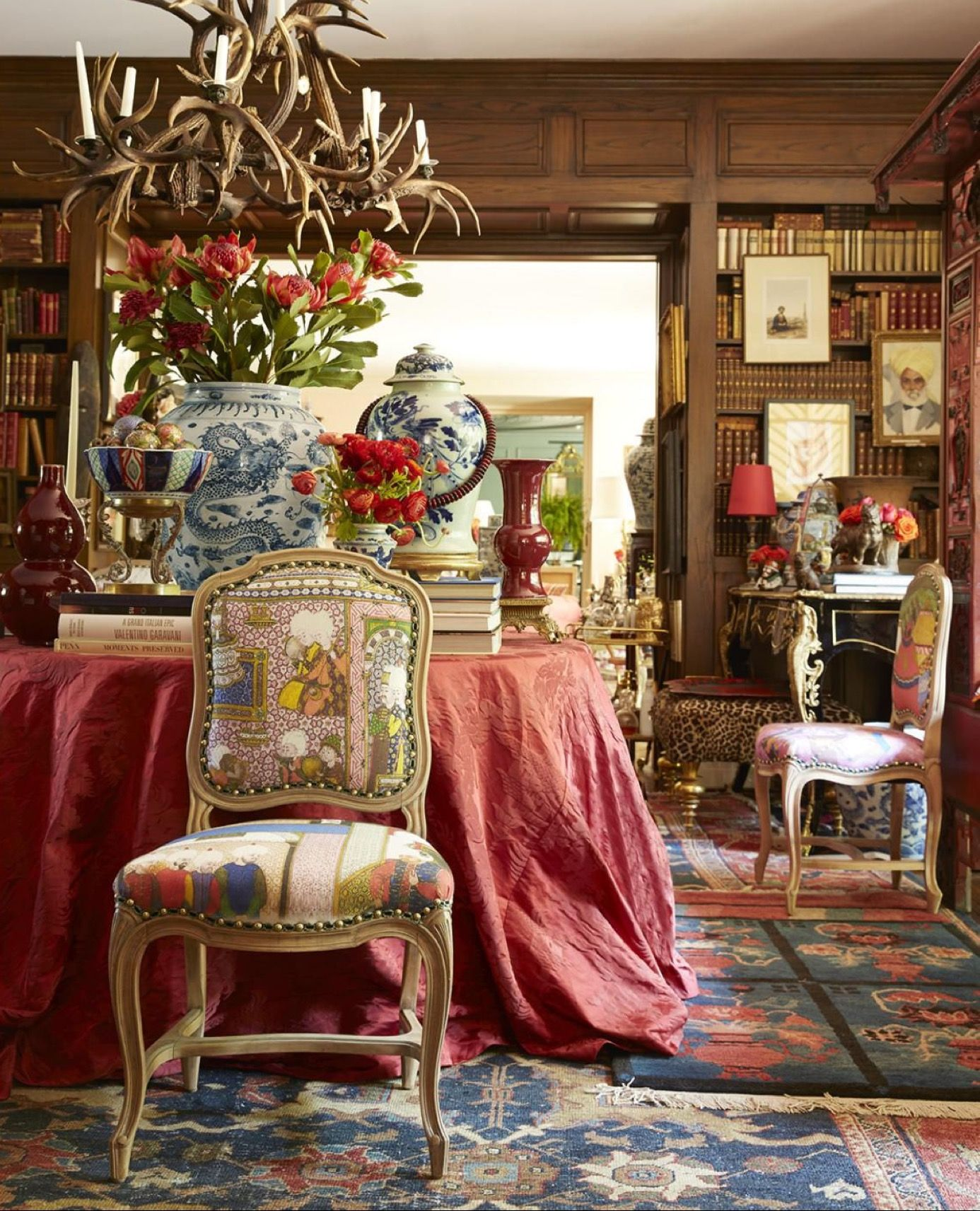 Chinoiserie In Blue And White Amongst Beautiful French