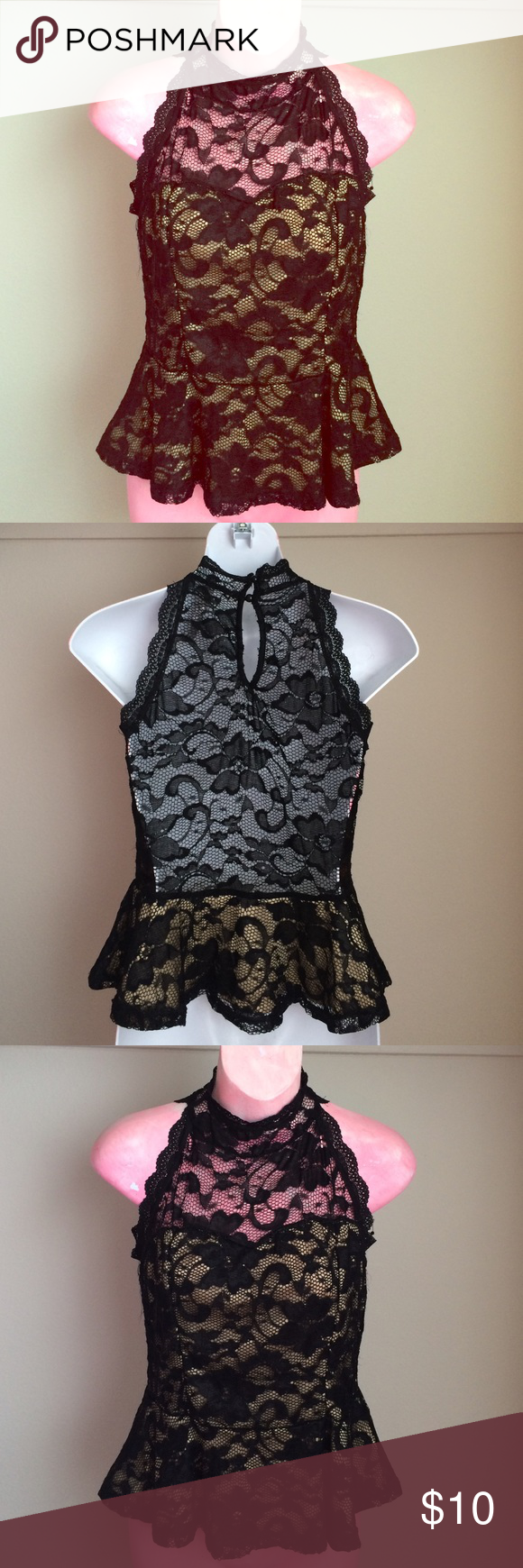 ✨ Beautiful lace peplum top! Beautiful lace peplum top! Tops Blouses