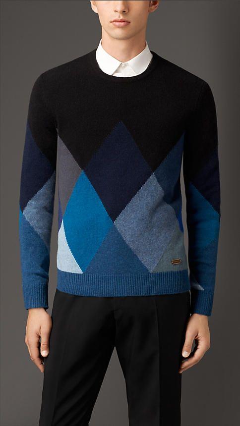 726d9991a Burberry London Cashmere Argyle Sweater