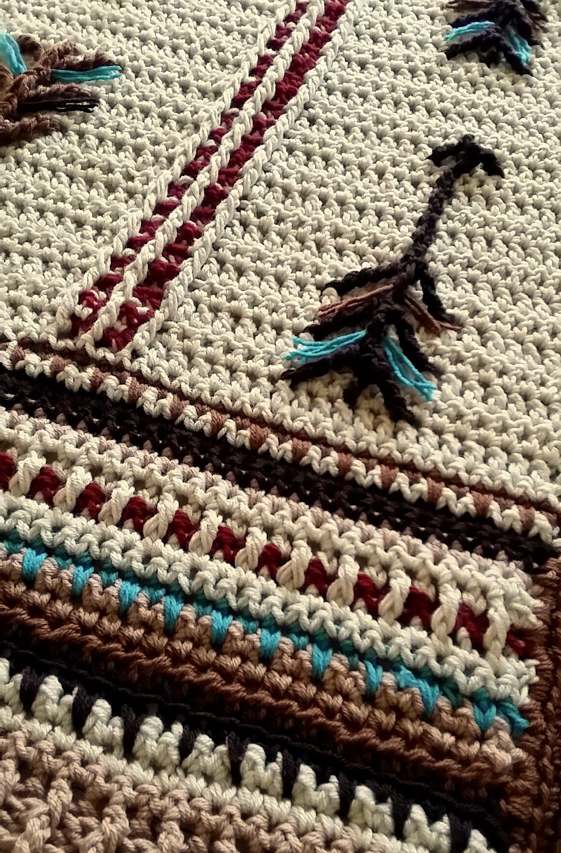Native American Art Inspired Crochet Blanket. Great for a baby ...