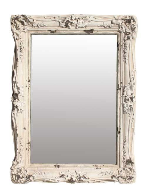 Shabby French Chic Rustic White Rectangle Frame Ornate Mirror Gorgeous New Online Interior Design Services Ornate Mirror Interior Design