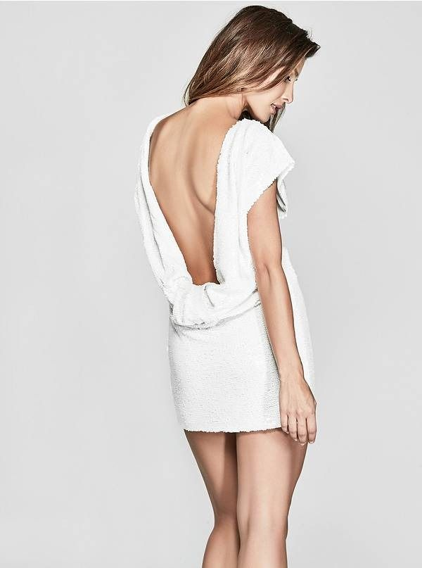 177bbb8a6eea Rosabel White Sequin Dress by Marciano | THE DRESS SHOP | Dresses ...
