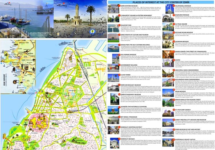 zmir tourist attractions map Maps Pinterest Izmir and City