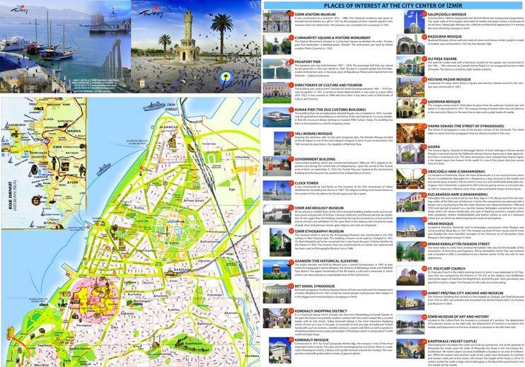 zmir tourist attractions map Maps Pinterest Izmir and City