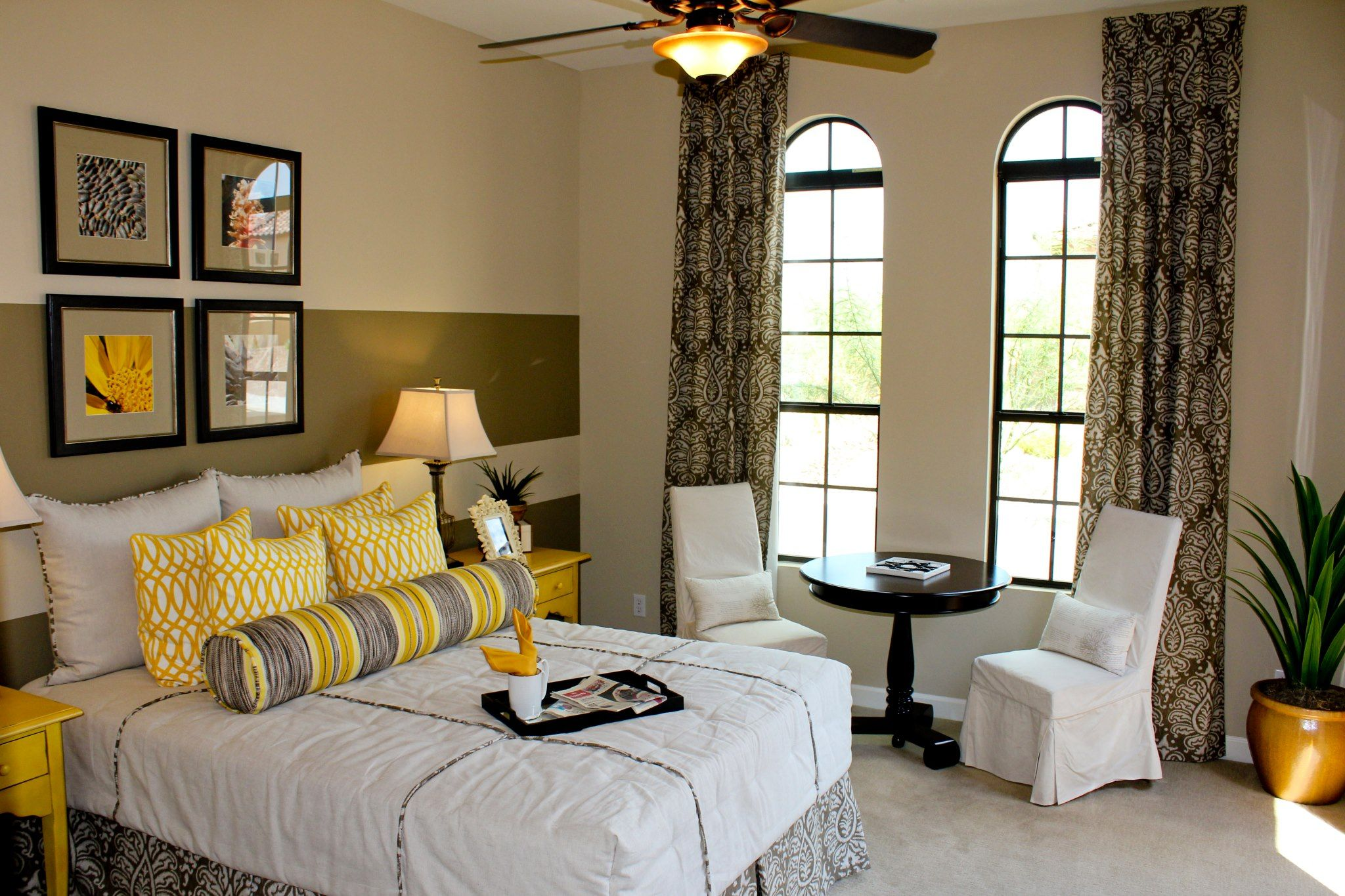 Yellow and grey | Guest bedroom, Home decor, Home