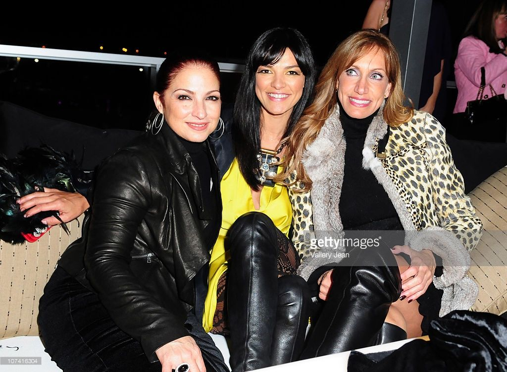 Gloria Estefan, Candela Ferro and Lili Estefan attend the grand opening of Gloria & Emilio Estefan and CB5 restaurant group Bongos Cuban Cafe at Seminole Hard Rock Hotel on December 7, 2010 in Hollywood, Florida.