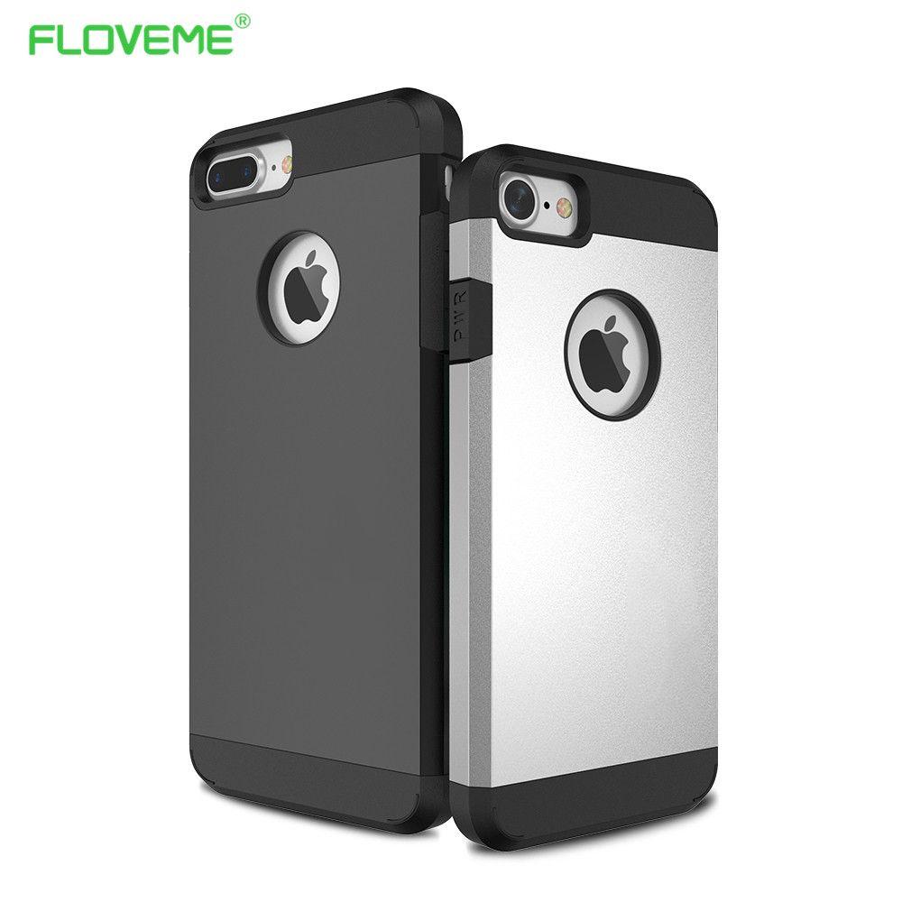 Kisscase hybird case a prueba de golpes duro para cubrir iphone 6 6s 7 7 más armadura de goma cajas del teléfono de lujo para apple iphone 6s 6 7 plus