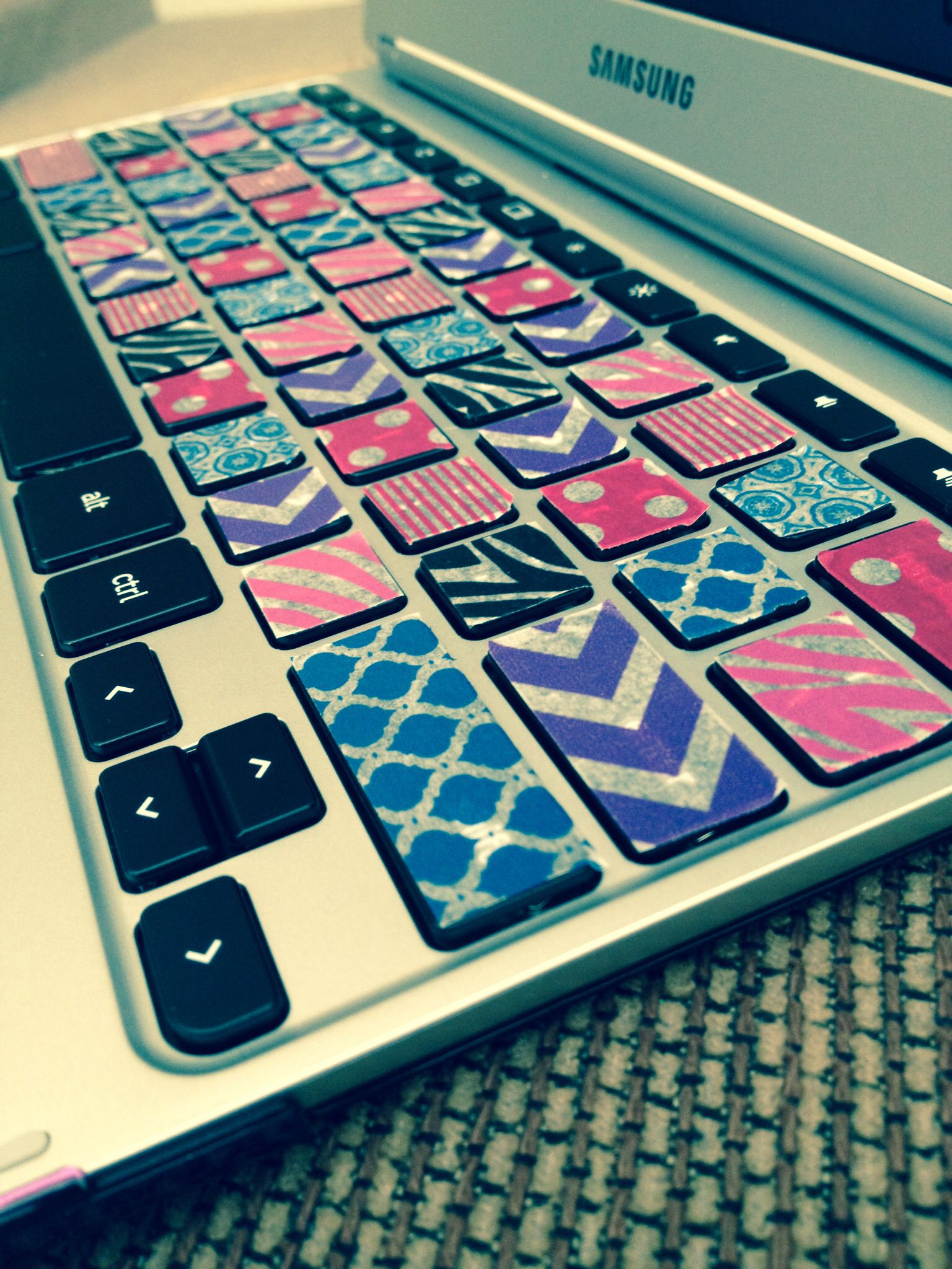 Washi Tape Over Your Keyboard Washi Tape Keyboard Washi Tape