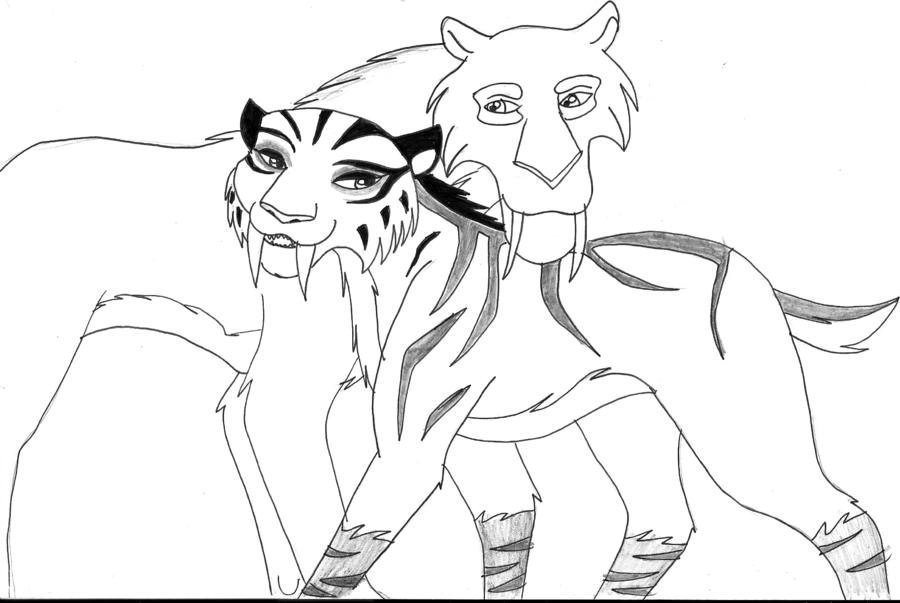 Francais Voici Un Dessin Qui Represente Kira Shira Et Diego Les Deux Tigres A Dents De Sabre Dans Le Fi Coloring Pages Earth Coloring Pages Ice Age Movies