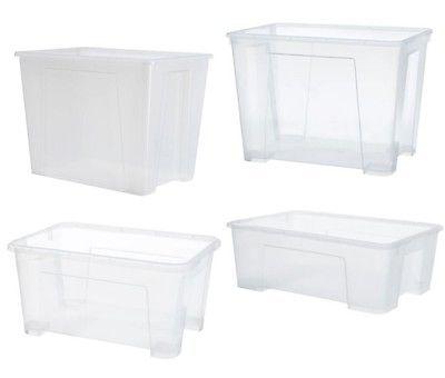 Ikea Samla Box Transparent Aufbewahrung Verstauen Kiste