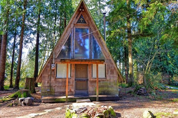500 Sq. Ft. A-Frame Cabin for sale with land: $75k | Rural Living ...