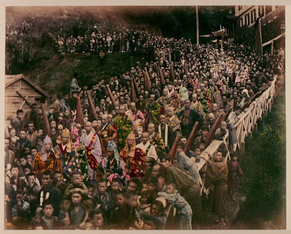 Buddhist Procession by Kusakabe Kimbei