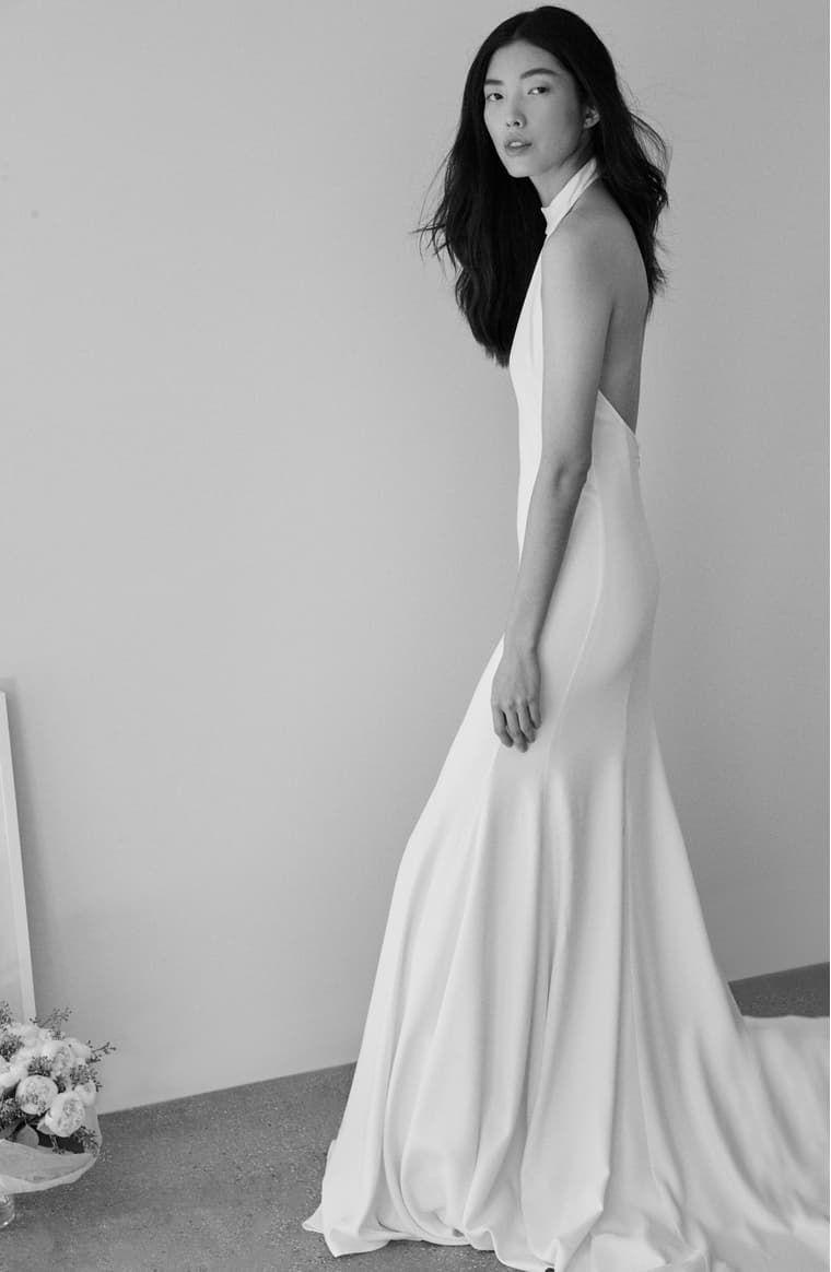 Stella Mccartney F18 Magnolia Halter Wedding Dress Nordstrom Halter Wedding Dress Wedding Dresses Nordstrom Dresses [ 1164 x 760 Pixel ]