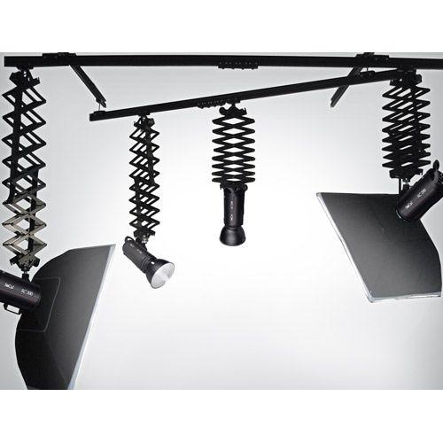 Easy Track Lighting Kit: Complete Studio Rail Light System - RS4