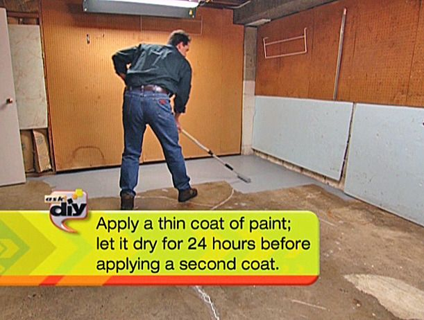 How to paint a garage floor with epoxy easy garage for How do you clean a garage floor