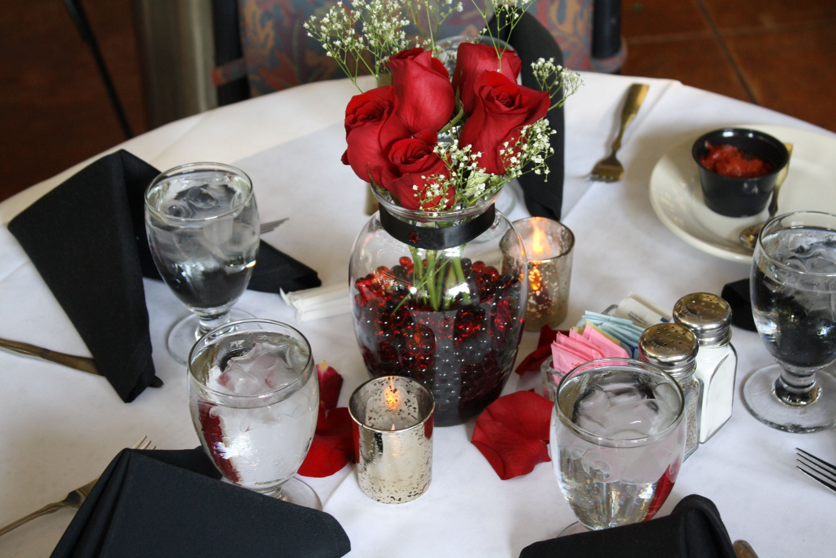Table Decorations For 40th Wedding Anniversary Indian Table