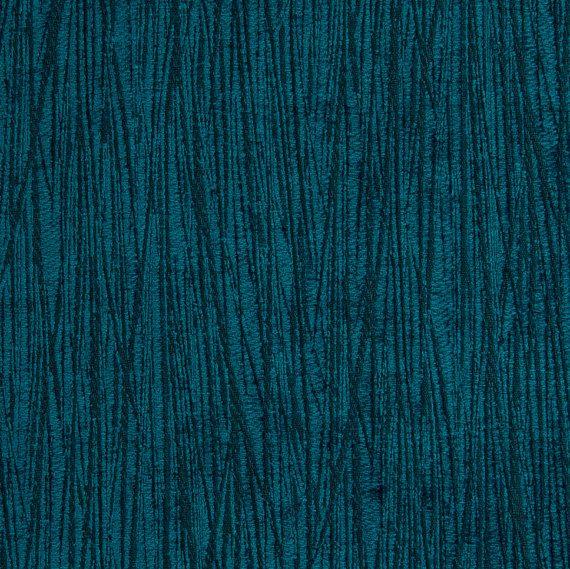 Peacock Blue Textured Velvet Upholstery Fabric Modern Buttons