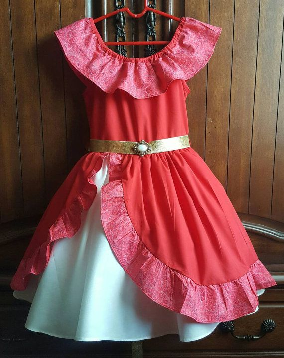 Elena Of Avalor Inspired 100 Cotton Dress With Petticoat
