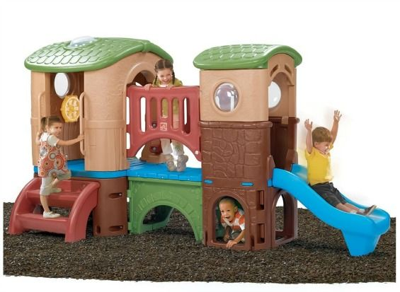 2 Slides Plus A Cool Bridge   Ultimate Playhouse For A Toddler