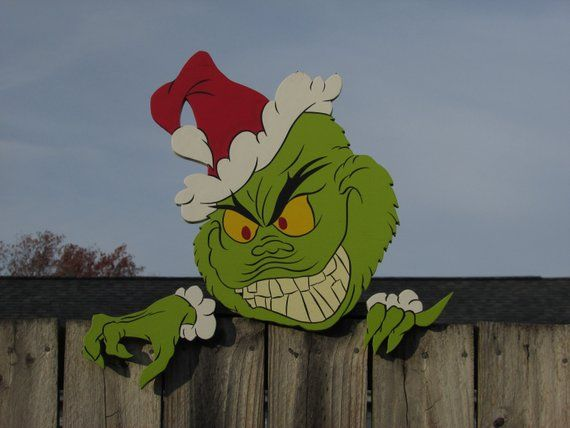 """GRINCH FENCE PEEKER #6 DIMENSIONS: 20"""" Wide x 20""""Tall ALL HARDWARE"""