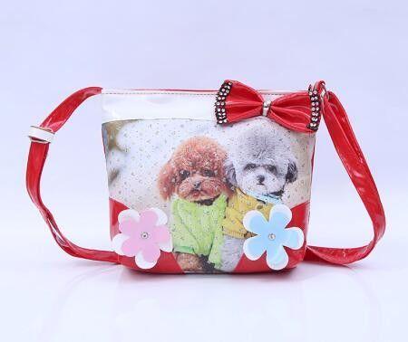 Cute Pet Cat Animal Children Bags Women handbags PU leather zipper kids Messenger bag Bow Shoulder Bag for kindergarten girl Hot