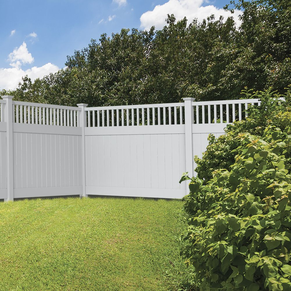 Portsmouth 6x8 Closed Top Vinyl Fence Kit Vinyl Fence Freedom Outdoor Living For Lowes Vinyl Fence Backyard Fences Modern Fence