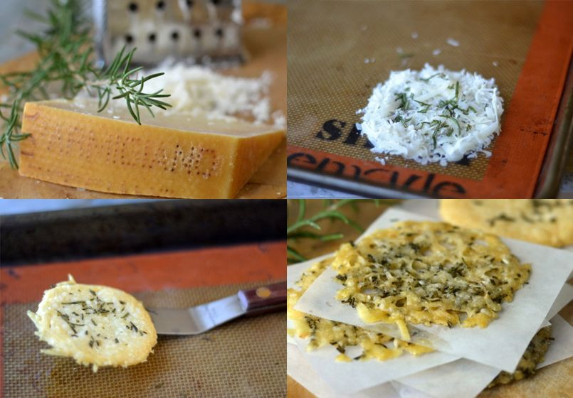 Chips de queso parmesano - Recetín