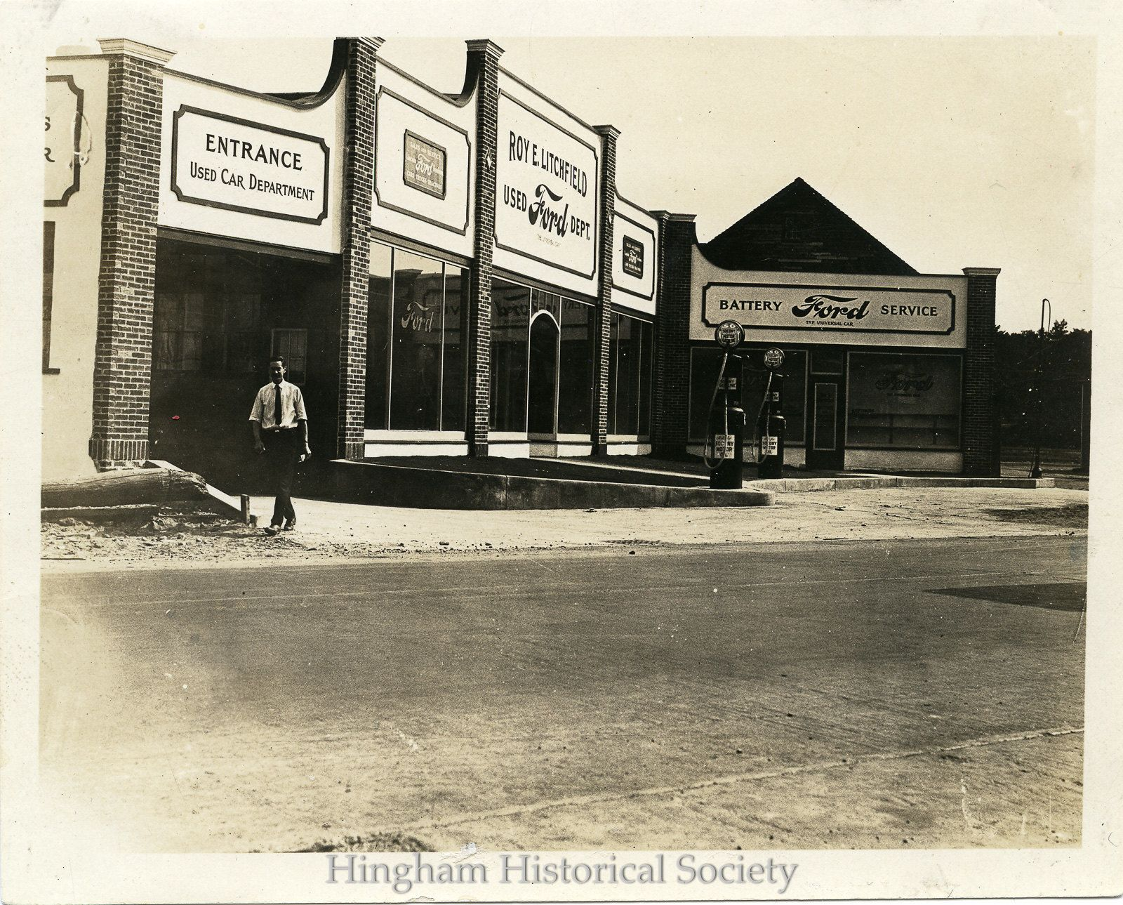 roy e litchfield s ford dealership in 2020 litchfield hingham historical society pinterest