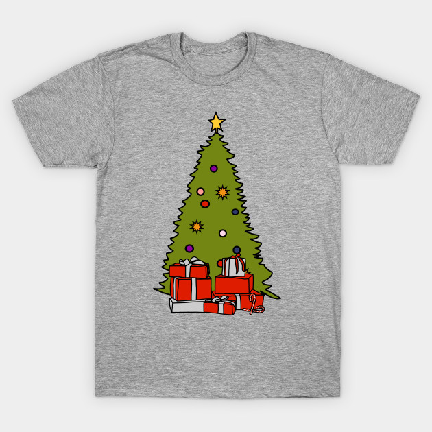 Christmas Tree And Presents Holidays T Shirt Teepublic T Shirt Designs Science Fiction Astronauten