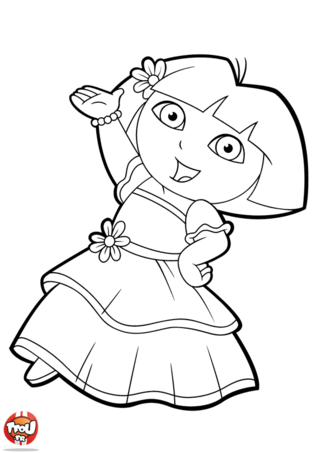 Coloriage dora danse coloring pages patterns stencils pinterest coloriage coloriage - Dessin a colorier dora ...