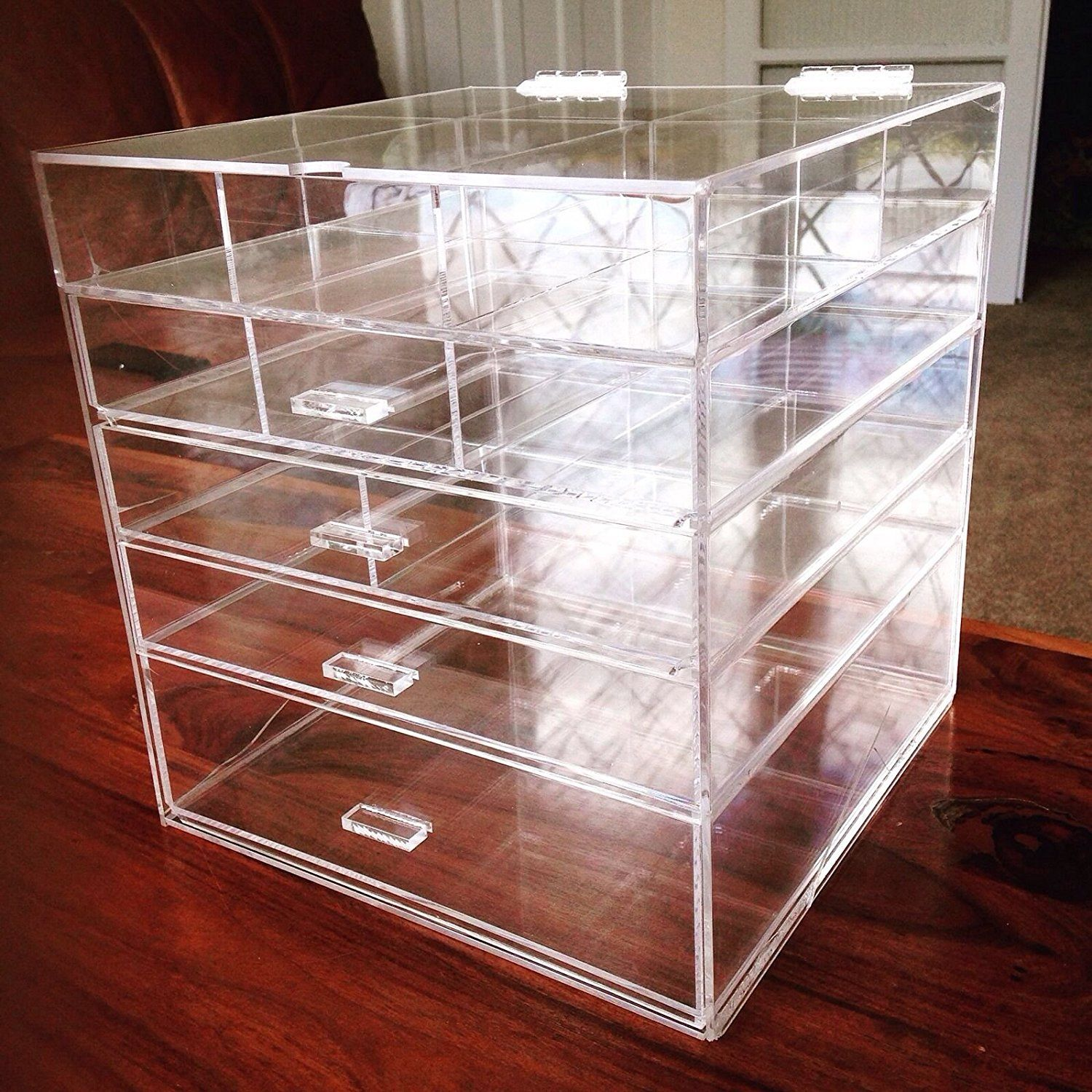 Kardashian Large Beauty Cube 5 Tier Drawers Acrylic Cosmetic