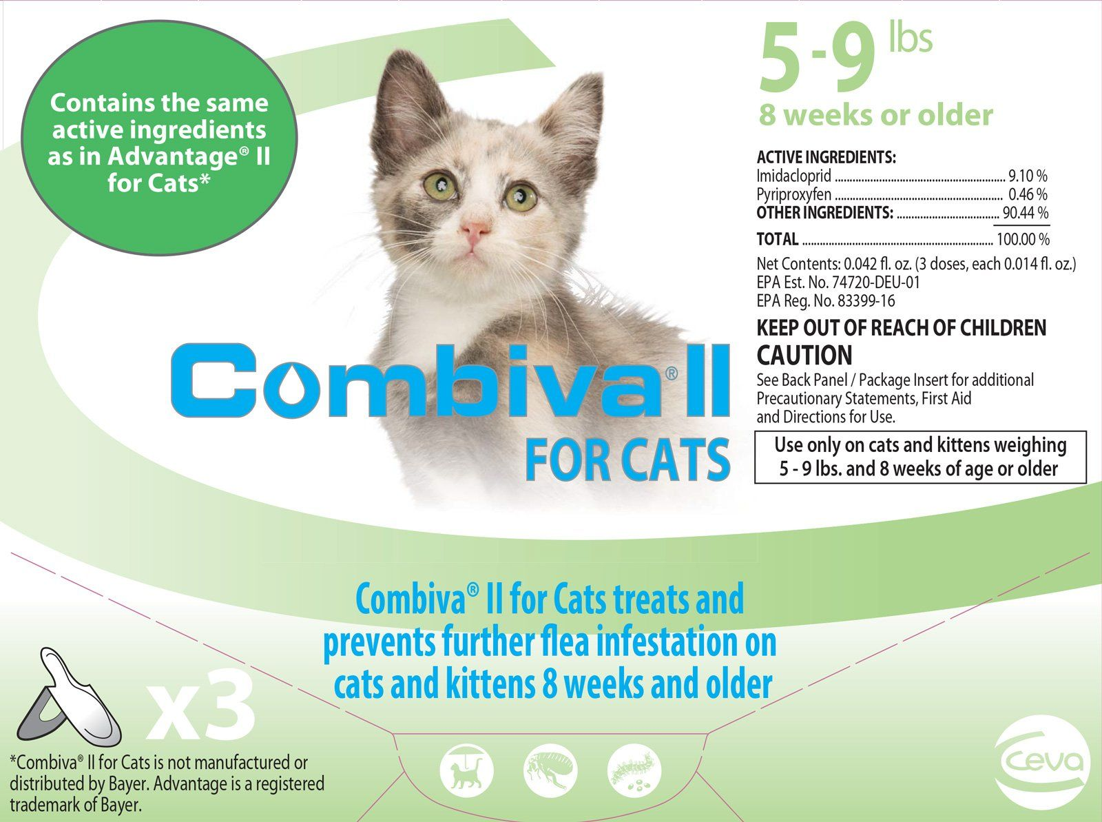 Combiva Ii For Cats 5 9 Lbs By Combiva Ad Ii Ad Combiva Lbs Cats Cats Cat Fleas Fleas