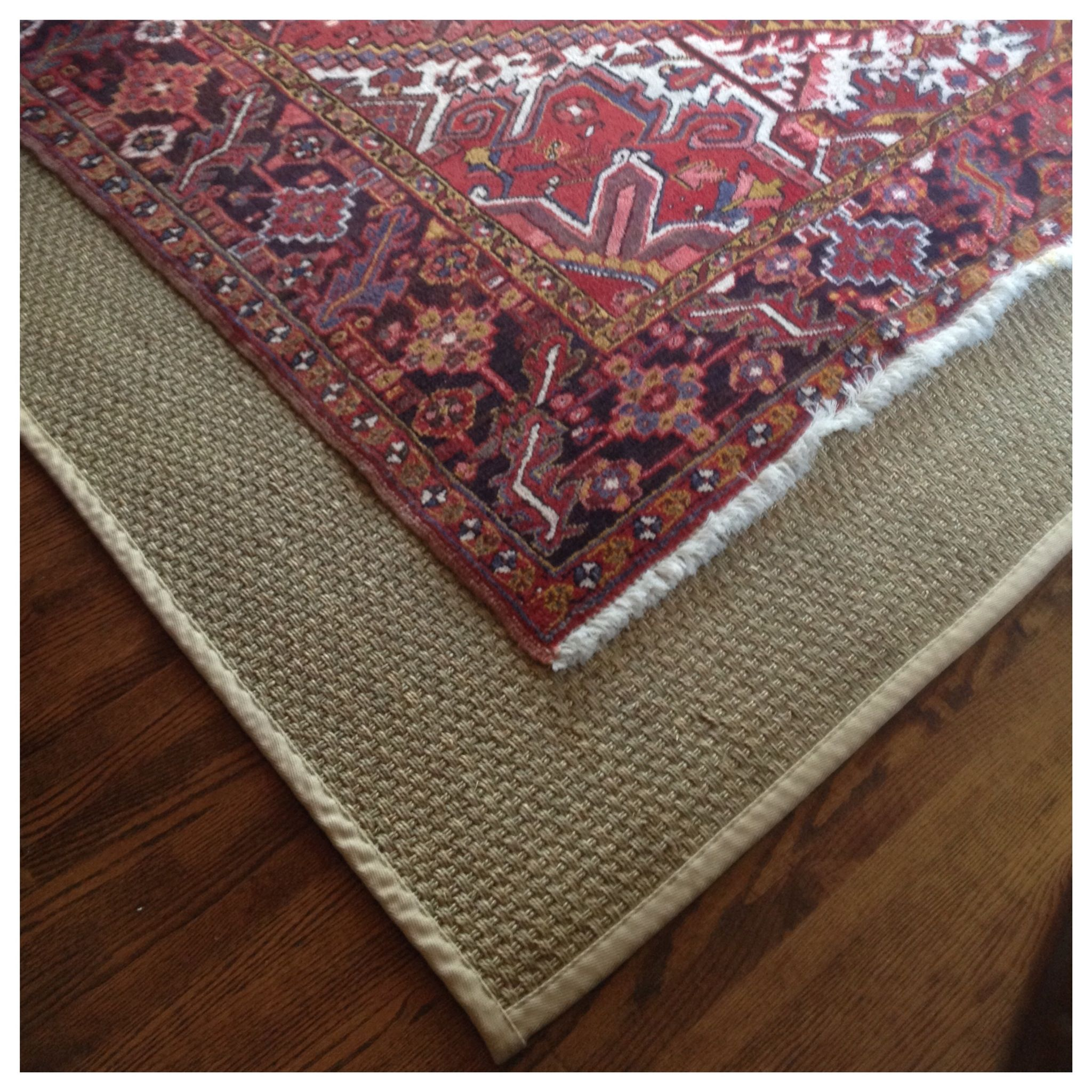 Layer An Antique Persian Rug Atop Of A Seagr