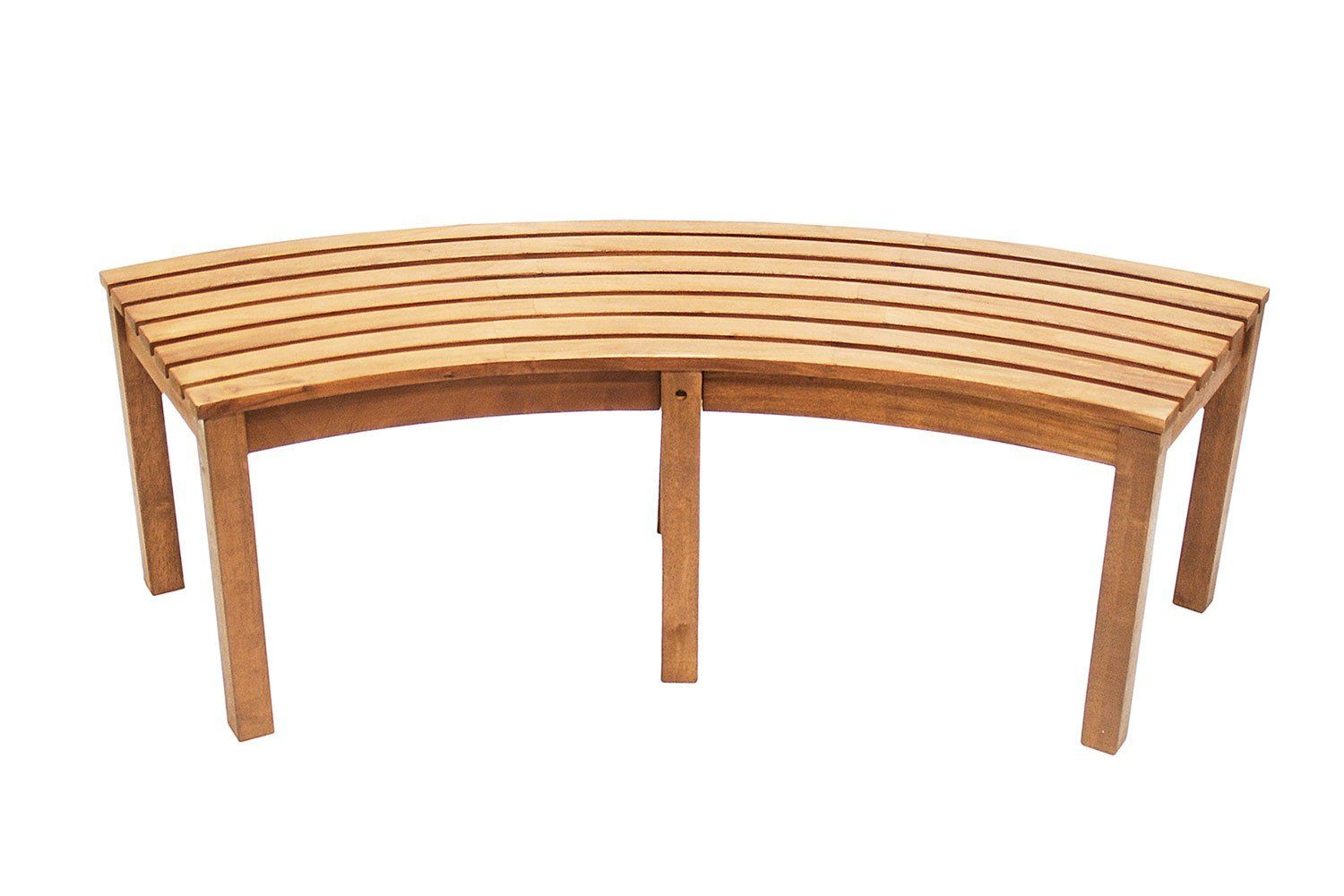 amazon com achla designs curved backless bench patio lawn