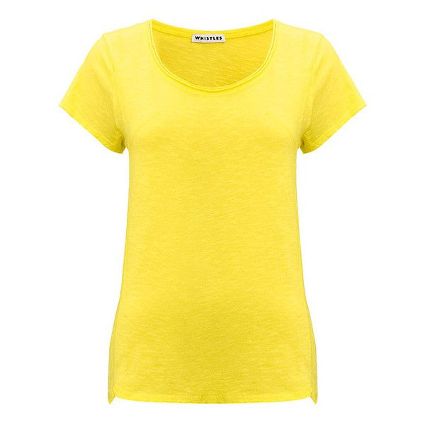 Lauren Flame Tee ($23) ❤ liked on Polyvore featuring tops, t-shirts, shirts, yellow, cotton t shirts, short-sleeve shirt, jersey t shirt, yellow t shirt and short sleeve t shirt