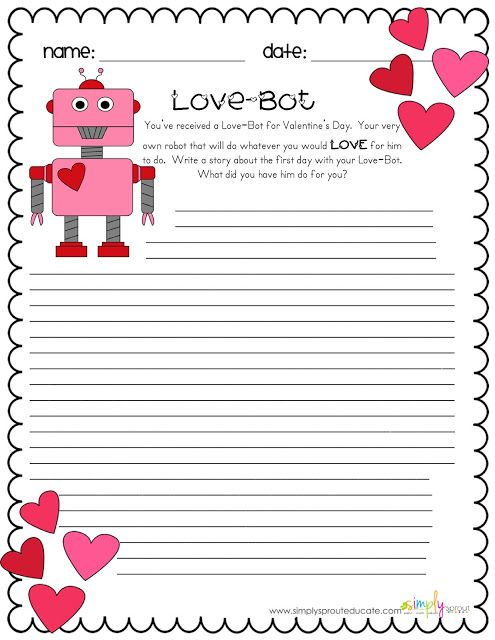 Valentine S Day Pack Valentines Writing Activities Valentines
