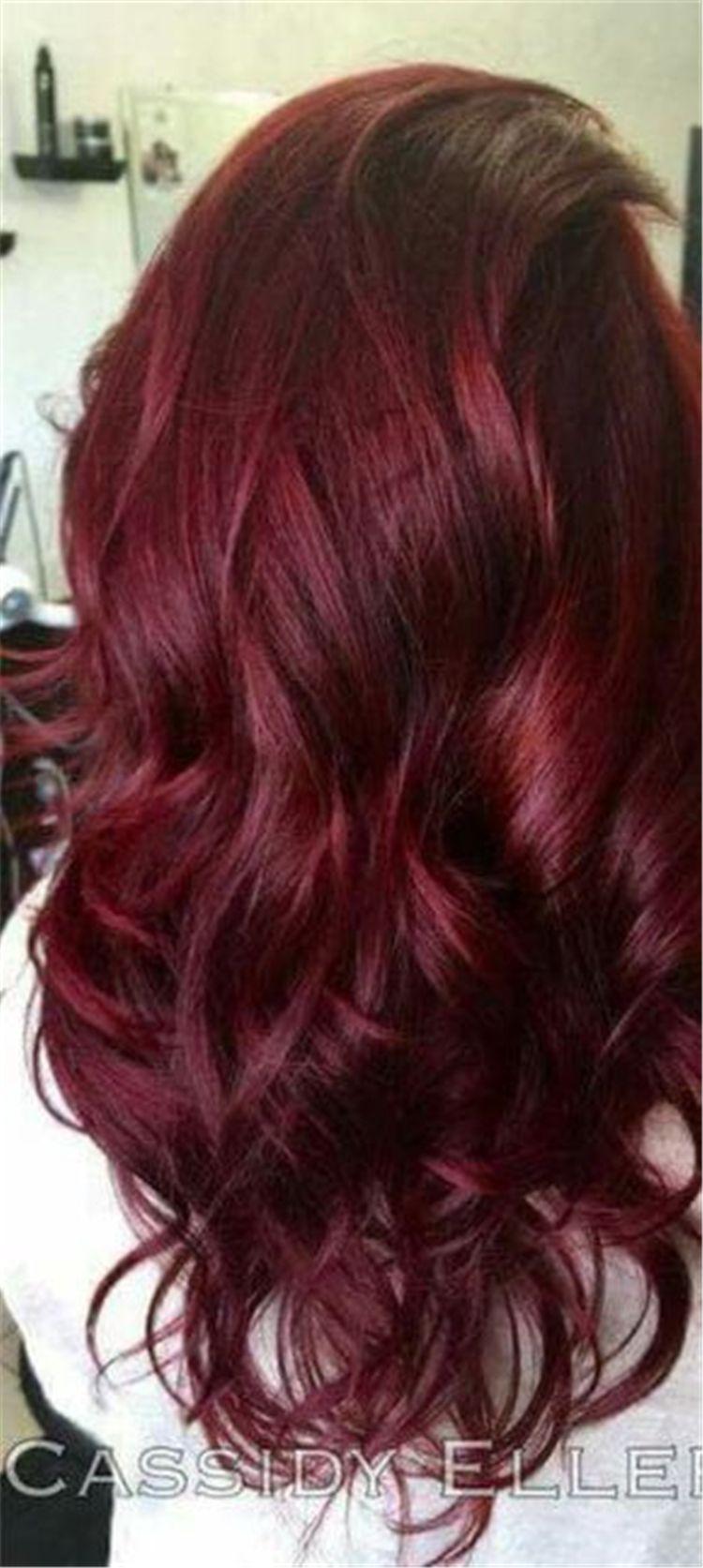 25 Burgundy Hair Color Ideas In 2019 Violet Hair Colors Hair Styles Red Violet Hair
