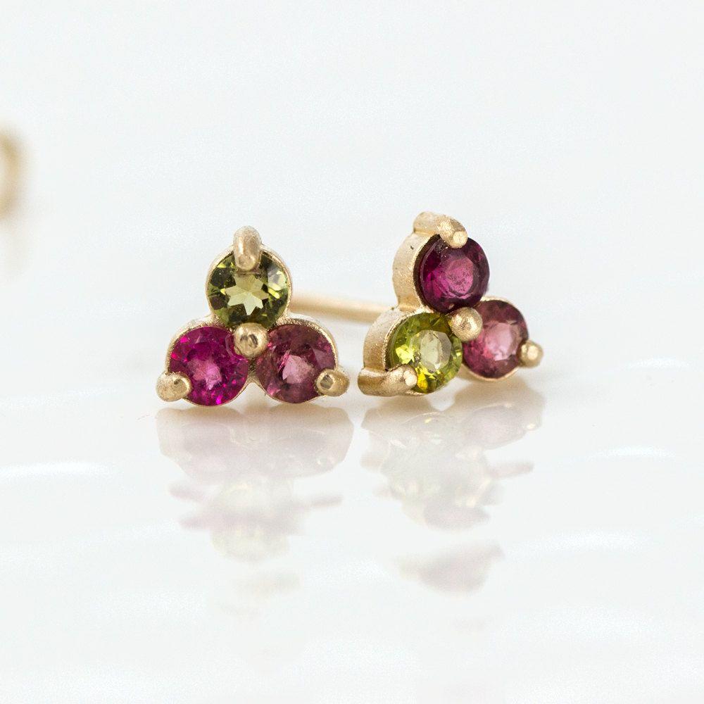 Melanie Casey Watermelon Tourmaline Stud Earrings 289 00 Http
