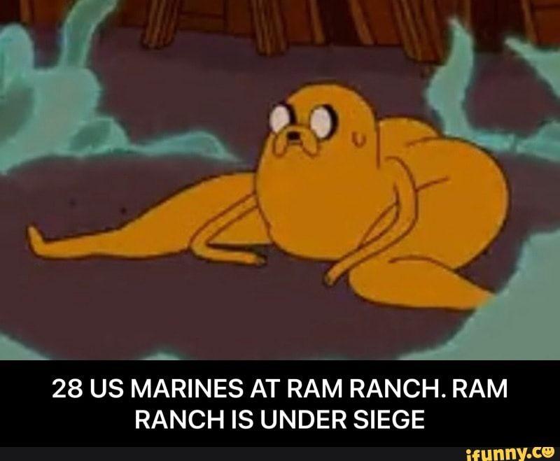 L 28 US MARINES AT RAM RANCH. RAM RANCH IS UNDER SIEGE ...