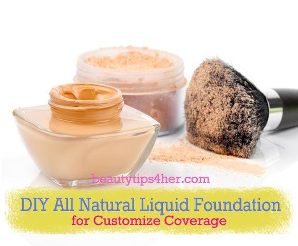 Diy All Natural Liquid Foundation From Light To Full