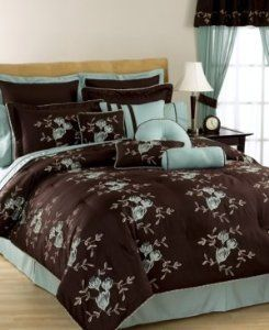 Amazon Com 7 Piece Brianna Bed In A Bag Choco Brown With