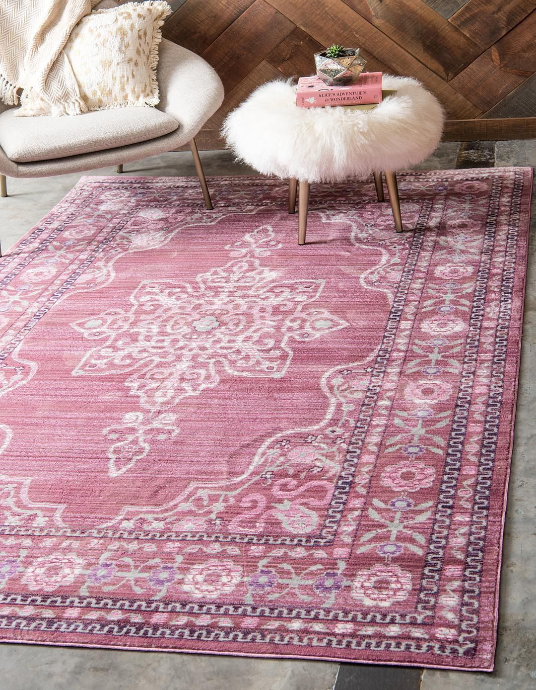 Pink 5' x 8' Aqua Rug Area Rugs iRugs UK (With images
